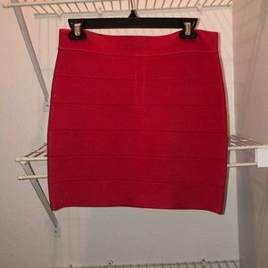 bebe. Red Bodycon Skirt. Size L.